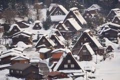 Shiragawa-va el pueblo Fotos de archivo libres de regalías