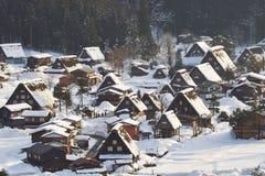 Shiragawa-va el pueblo Imagen de archivo libre de regalías