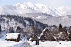 Shiragawa-va el pueblo Fotografía de archivo