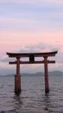 Shirahigetorussen in Meer Biwa in Japan stock foto's
