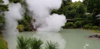 Shiraike-Jigoku & x28 Άσπρη λίμνη Hell& x29  στοκ εικόνες