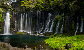 Shiraito faller - Fuji - Japan Royaltyfria Foton