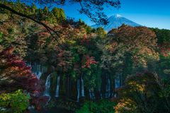 Shiraito falls in Fujinomiya, Japan royalty free stock photos