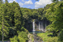 Shiraito Falls near Mount Fuji Stock Photography