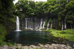 Shiraito vattenfall i Fujinomiya, Japan nära Mt Fuji Royaltyfri Bild