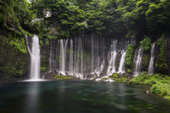 Shiraito-Wasserfall in Fujinomiya, Japan nahe Mt Fuji stockbilder