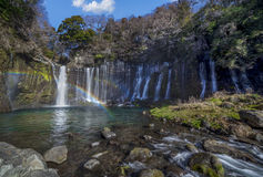 Shiraito water fall Royalty Free Stock Photo