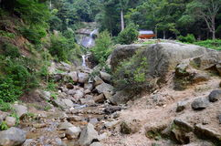 Shiraito waterfall on Daisho-in hiking. Royalty Free Stock Photos