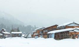 Shirakawa, Ιαπωνία, χωριό στοκ εικόνα με δικαίωμα ελεύθερης χρήσης