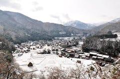 Shirakawa-идет (точка зрения Shiroyama), Япония Стоковая Фотография RF