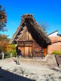 Shirakawa идет, Япония, 2015 Один из много домов в Shiragawa стоковое фото rf