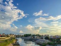 Shirakawa-Fluss stockfotografie