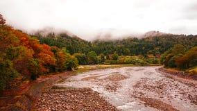Shirakawa går byn i Japan Royaltyfri Fotografi