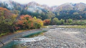 Shirakawa-går sikten Arkivfoton