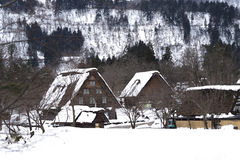 Shirakawa-ga dorp Stock Fotografie