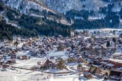 Shirakawa-gehen nationales Dorf UNESCO Erb Lizenzfreie Stockfotos