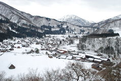 Shirakawa-go. World heritage village in Japan Stock Photos