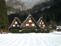 Shirakawa-go. Snow covered gasshozukuri building in Shirakawa-go, Japan stock photo