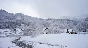Winter at Shirakawa-go village in Gifu, Japan Stock Image