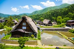 Shirakawa-go, Japanese Village Royalty Free Stock Photo
