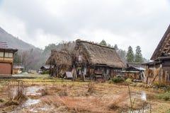 Shirakawa Go (Shirakawa-go) in Rainy Day, Japan royalty free stock images