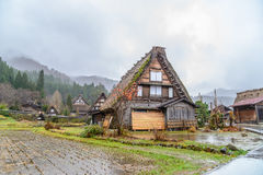 Shirakawa Go (Shirakawa-go) in Rainy Day, Japan Stock Photo