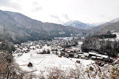 Shirakawa-go (Shiroyama Viewpoint), Japan Royalty Free Stock Photography