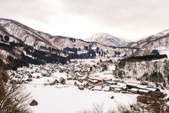 Shirakawa-go. View of the farmhouse village Shirakawago, Japan Stock Images