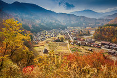 Shirakawa-go village in Gifu prefecture, Japan Royalty Free Stock Photography