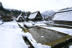 Shirakawa go village hut Royalty Free Stock Photos