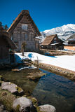 Shirakawa-go in winter Stock Photography