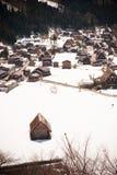 Shirakawa-go in winter Royalty Free Stock Images