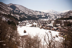 Shirakawa-go in winter Royalty Free Stock Photography