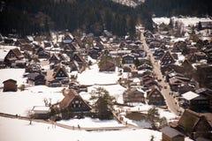 Shirakawa-go in winter Stock Photo