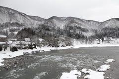 Shirakawa-go at winter Stock Photos
