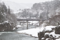 Shirakawa-go at winter Stock Photography