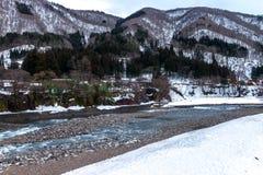 Shirakawa-go world heritage village in Japan Feb 2016. royalty free stock images
