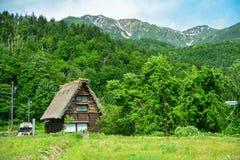 Shirakawa hus Arkivbilder