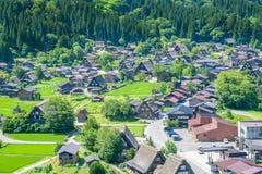 Shirakawa lub Iść, Małe tradycyjne Historyczne wioski w lato sezonie, Japonia Obrazy Royalty Free