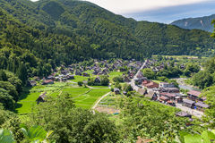 Shirakawa or Shirakawa-go, A Small traditional Historic villages in summer Season Stock Photography