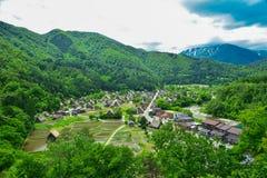 Shirakawa stad Arkivfoto