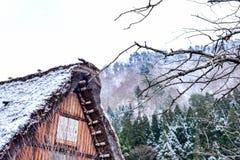 Shirakawa-vá no inverno Imagem de Stock