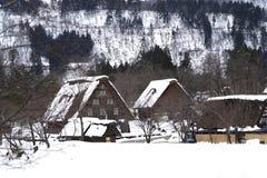 Shirakawa-va el pueblo Fotografía de archivo