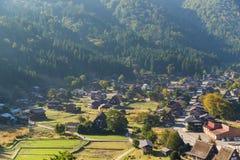 Shirakawa-va el pueblo viejo Fotos de archivo libres de regalías