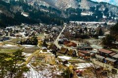 Shirakawa-va il villaggio Immagine Stock Libera da Diritti