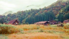 Shirakawa va pueblo en Japón Foto de archivo libre de regalías
