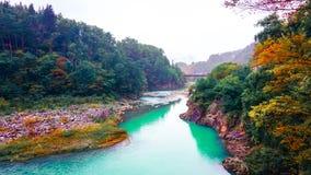 Shirakawa va pueblo en Japón Imagen de archivo