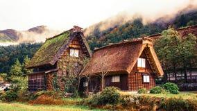 Shirakawa va pueblo en Japón Imágenes de archivo libres de regalías