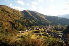 Shirakawa va villaggio fotografie stock