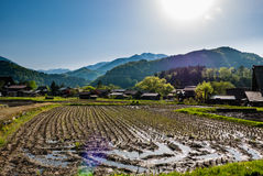 Shirakawa-vada Fotografia Stock